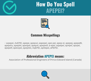 Correct spelling for APEPEI