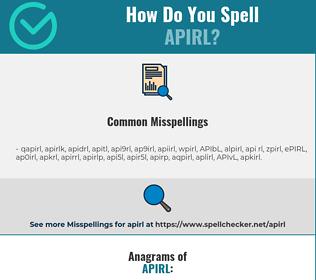 Correct spelling for APIRL