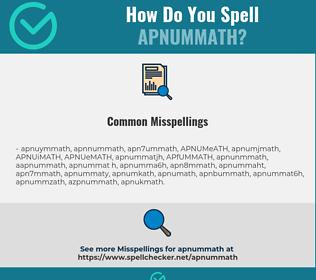Correct spelling for APNUMMATH