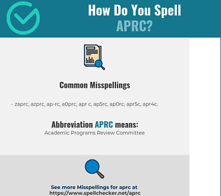 Correct spelling for APRC