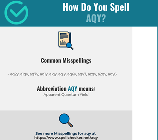 Correct spelling for AQY