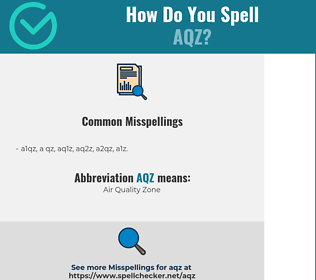 Correct spelling for AQZ