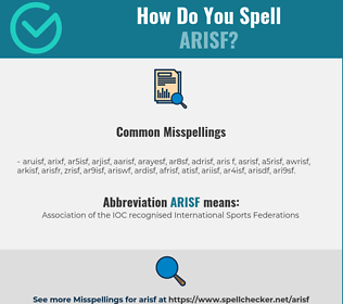 Correct spelling for ARISF