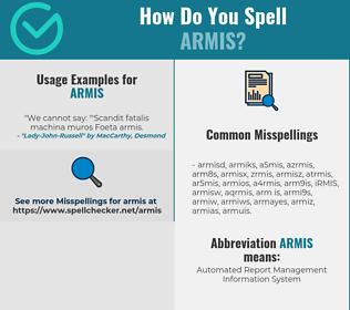 Correct spelling for ARMIS