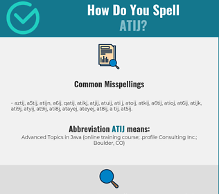 Correct spelling for ATIJ