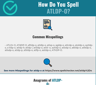 Correct spelling for ATLDP-O