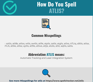 Correct spelling for ATLIS