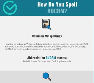 Correct spelling for AUCBM