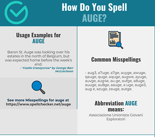 Correct spelling for AUGE