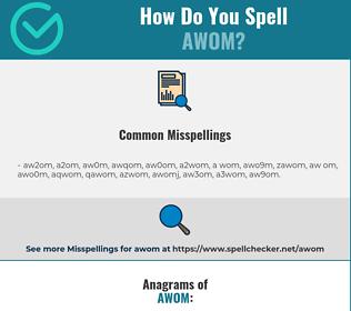Correct spelling for AWOM