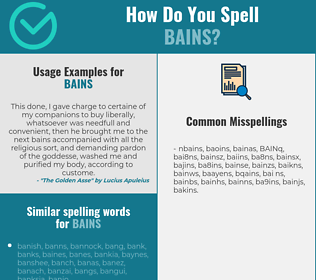 Correct spelling for BAINS