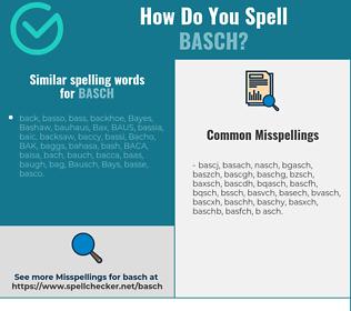 Correct spelling for BASCH