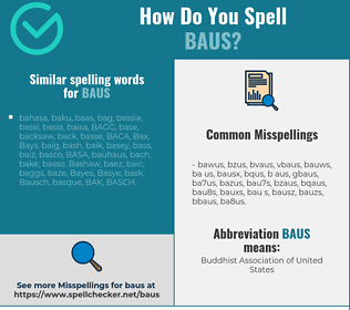 Correct spelling for BAUS