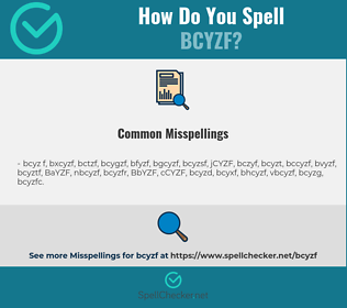Correct spelling for BCYZF