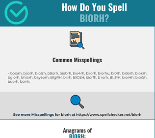 Correct spelling for BIORH