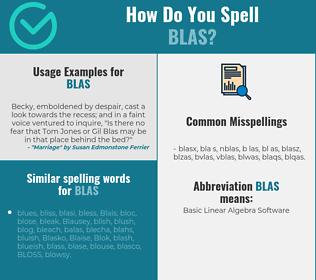 Correct spelling for BLAS