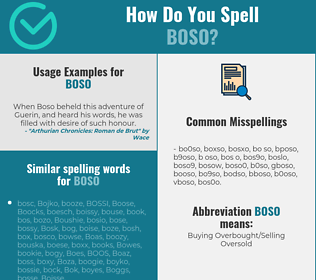 Correct spelling for BOSO