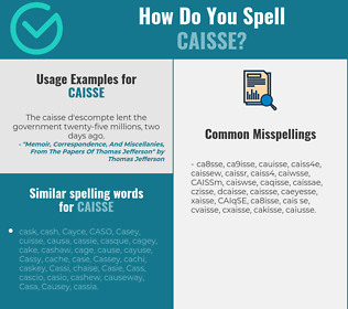 Correct spelling for CAISSE