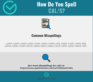 Correct spelling for CAL/S