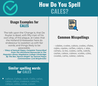 Correct spelling for CALES