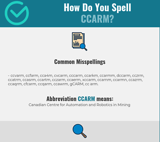 Correct spelling for CCARM