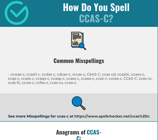 Correct spelling for CCAS-C