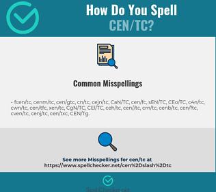 Correct spelling for CEN/TC