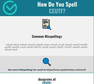 Correct spelling for CEUTF