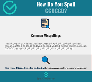 Correct spelling for CGDCGD