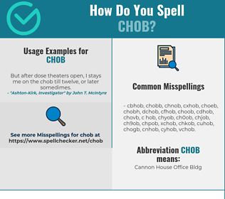 Correct spelling for CHOB