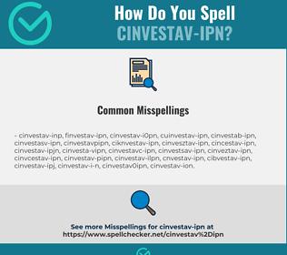 Correct spelling for CINVESTAV-IPN
