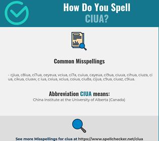 Correct spelling for CIUA