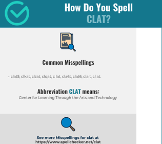 Correct spelling for CLAT