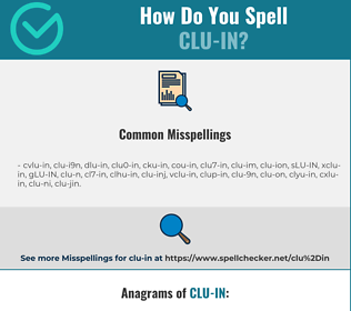 Correct spelling for CLU-IN