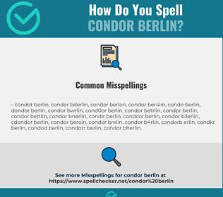 Correct spelling for CONDOR BERLIN