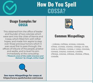 Correct spelling for COSSA