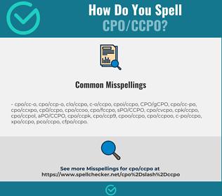 Correct spelling for CPO/CCPO