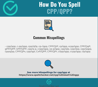 Correct spelling for CPP/QPP