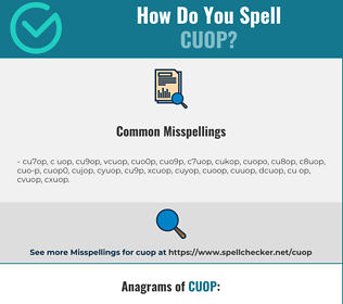 Correct spelling for CUOP