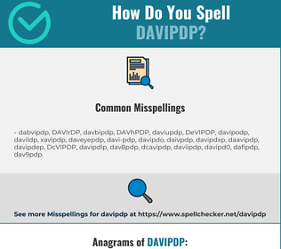 Correct spelling for DAVIPDP