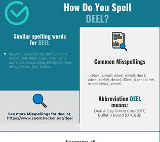 Correct spelling for DEEL