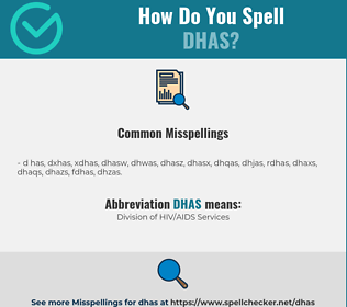 Correct spelling for DHAS
