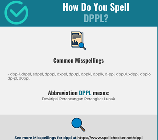 Correct spelling for DPPL