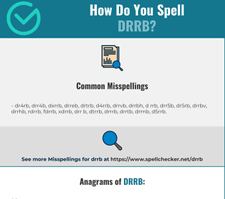 Correct spelling for DRRB