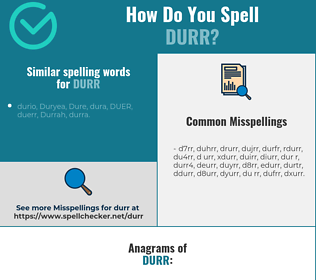 Correct spelling for DURR