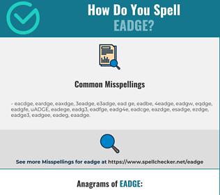 Correct spelling for EADGE
