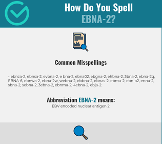 Correct spelling for EBNA-2
