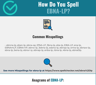 Correct spelling for EBNA-LP