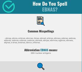 Correct spelling for EBNAS