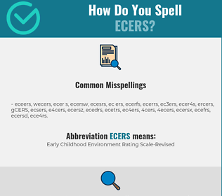 Correct spelling for ECERS